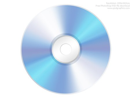 PSD compact disc CD icon Clipart Picture Free Download.