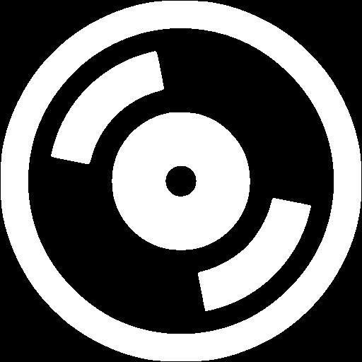 White cd icon.
