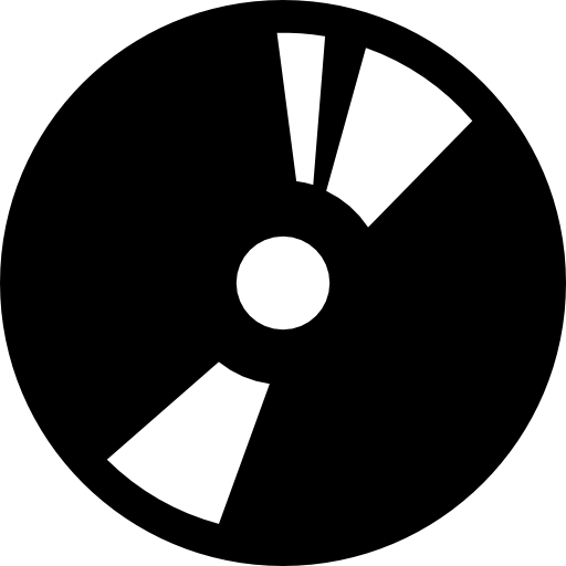 Disc digital tool symbol for music interface or burn cd or dvd.