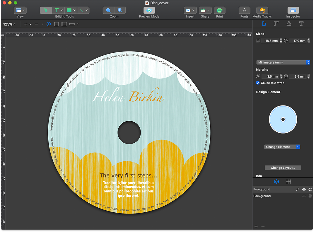 CD and DVD Label Software for Mac.