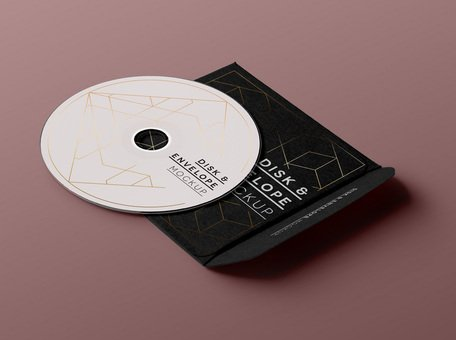 Psd CD Disk Sleeve Mock Up Clipart Picture Free Download.