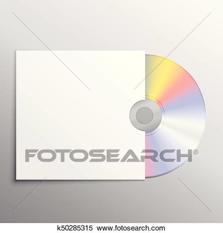 Cd and cover black mockup template design Clipart.