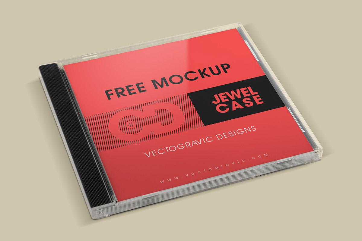 Free CD Jewel Case Mockup.