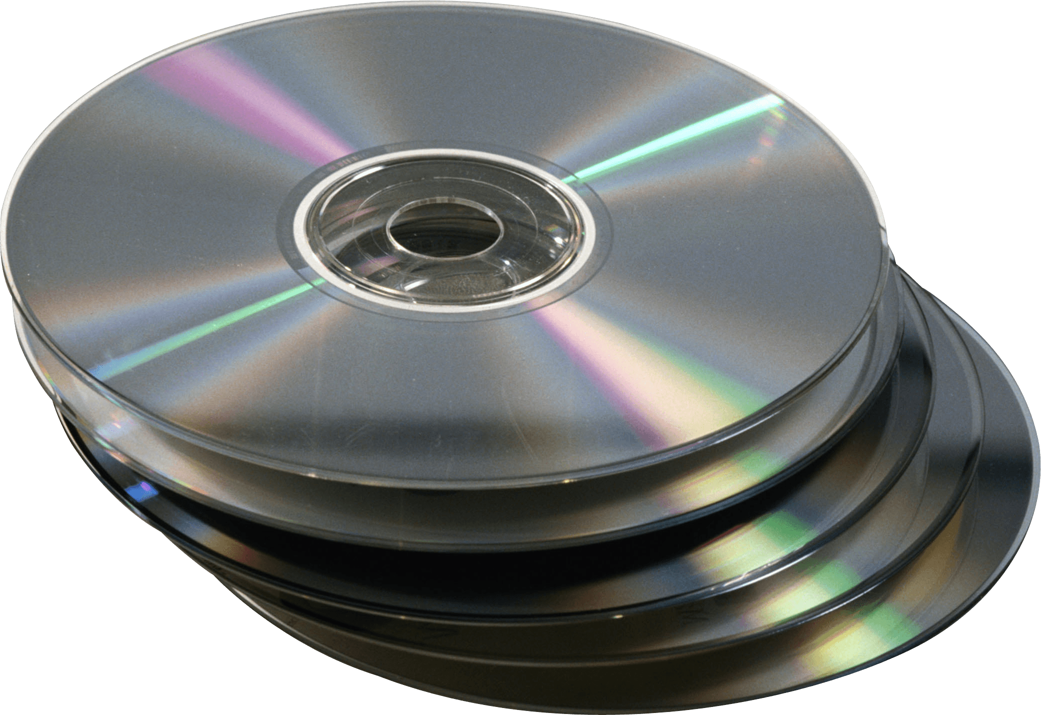 Stack Compact Disc transparent PNG.