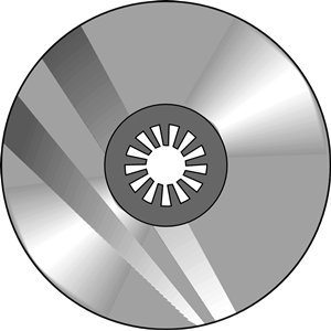 Cd clip art black and white.