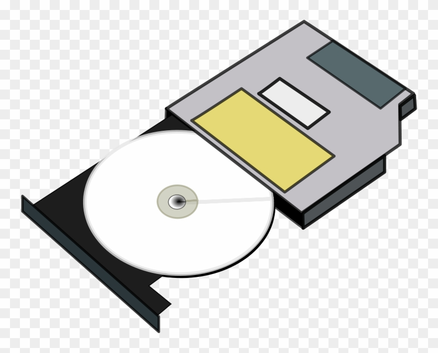 Free Clipart Slim Cd Drive Anonymous.