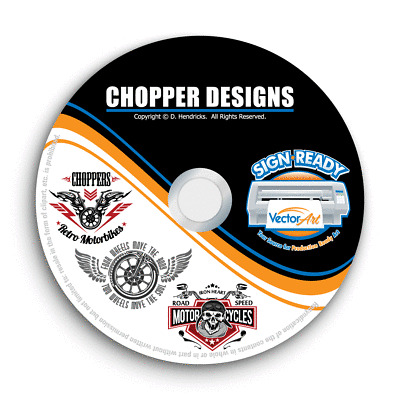 CHOPPER MOTORCYCLE CLIPART.
