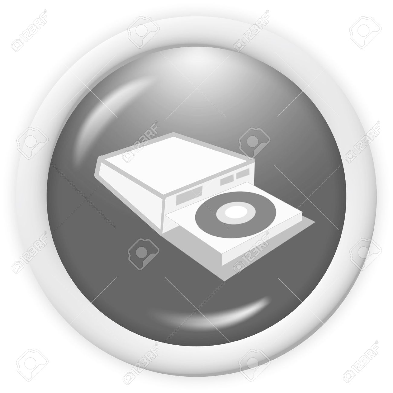 Compact Disc Writer Icon.