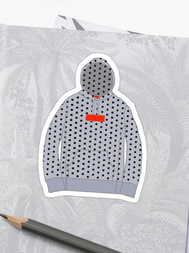 \'Supreme Box Logo Hoodie CDG Gray and Black\' Sticker by kingjoshuae.