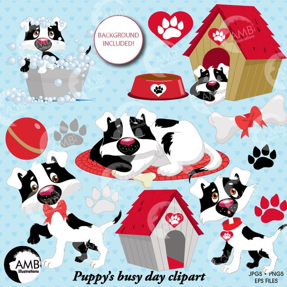 Puppy dog clipart, dog clip art, puppy clip art, animal.