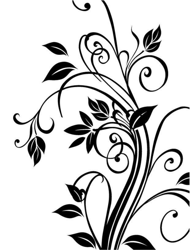 Vector cdr floral Free vector.