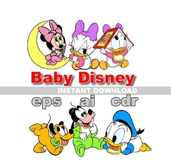 Baby Disney digital 51 clipart vector cdr ai eps files Clip Art.