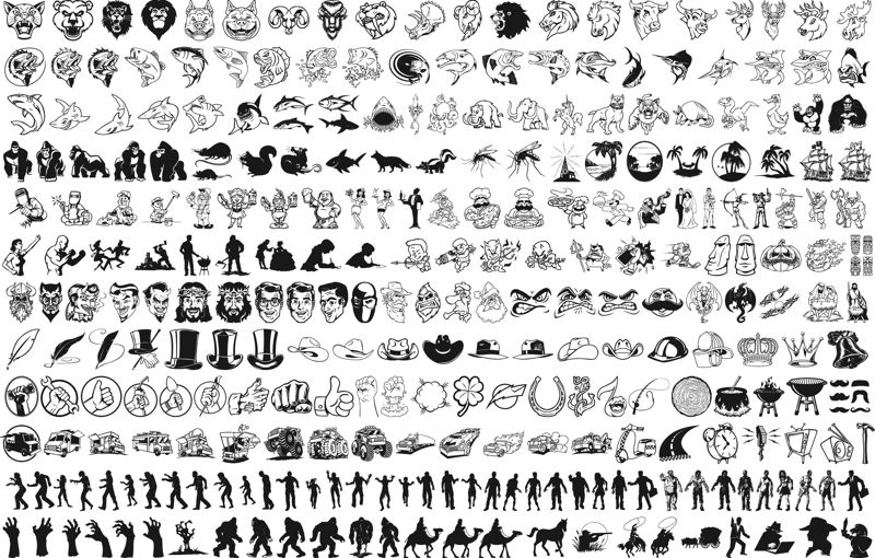 Mix vector silhouettes clipart Free Vector cdr Download.