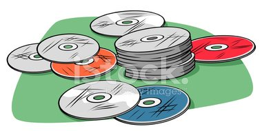Scratched Cds stock vectors.