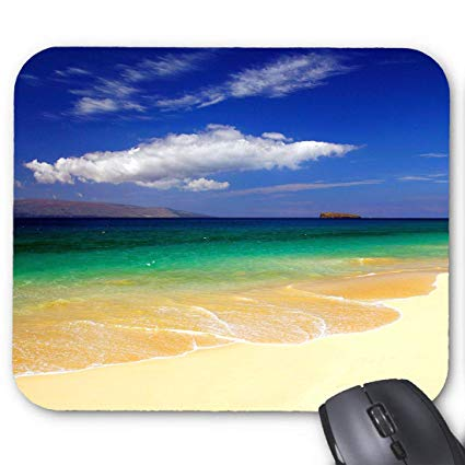Amazon.com : Ocean Clipart Background Mouse pad 9.8 X 7.8 in.