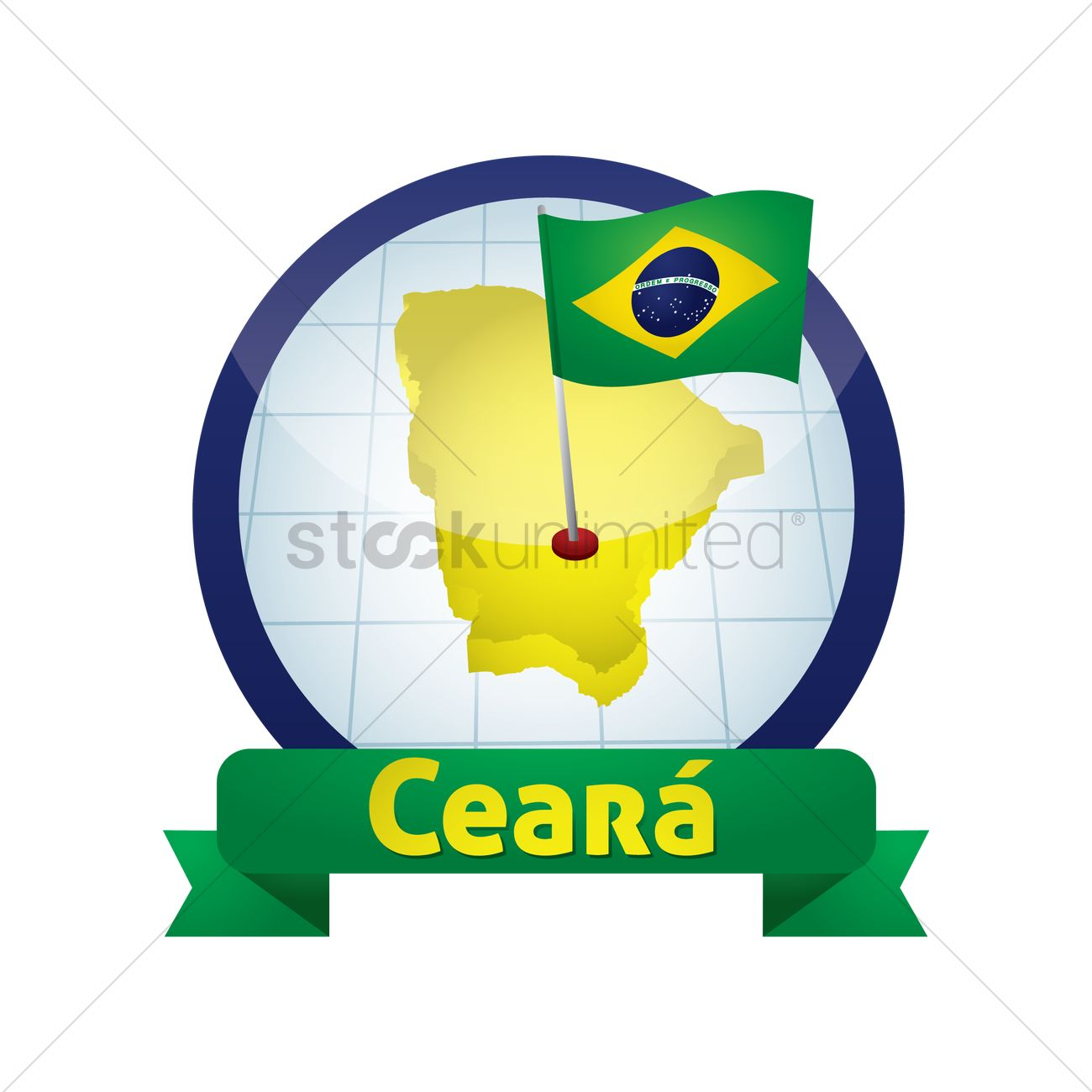 Ceara map Vector Image.