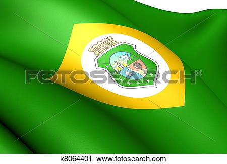 Clipart of Flag of Ceara state, Brazil. k8064401.