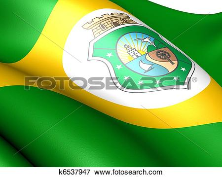 Stock Illustration of Flag of Ceara k6537947.