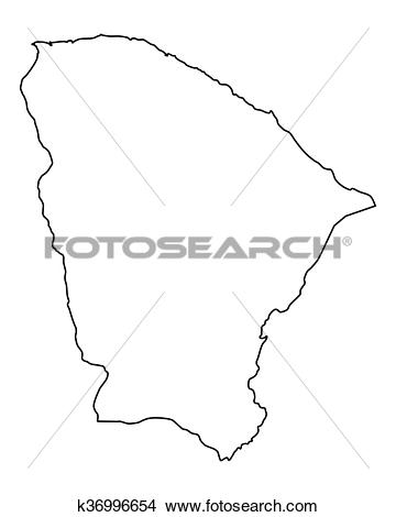 Clipart of Map of Ceara k36996654.