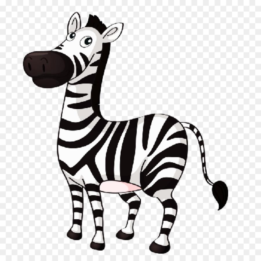 Zebra Cartoon clipart.