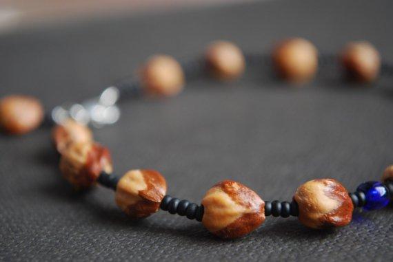 Custom Ghost Beads Cedar Berry Bracelet in Matte Black by misobel.
