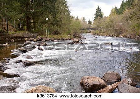 Stock Photo of Cedar River Kayak Slalom Course k3613784.