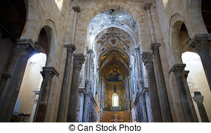 Stock Image of The Christ Pantokrator. Cathedral.