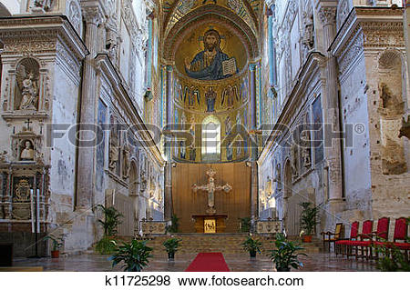 Pictures of The Christ Pantokrator. Cathedral.