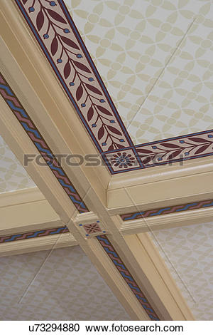 Stock Photography of ARCHITECTURAL TREATMENTS: Ceiling treatment.
