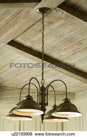 Pictures of Light Fixture Hanging from Wood Beam Ceiling u22193908.