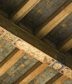 Pictures of Detail hand painted ceiling beams u24199298.