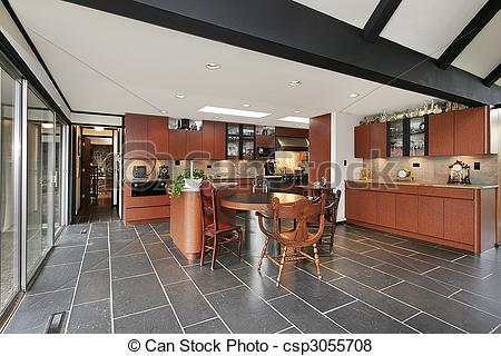 Pictures of Kitchen with ceiling beams.