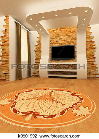 Clip Art of Construction of ceiling and wall with laminated.