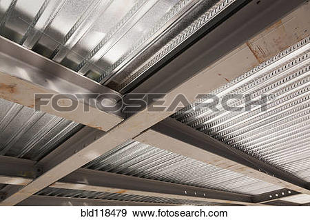 Stock Photograph of The ceiling of a commercial construction.