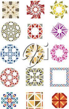 Vectors design is arabesque, borders, carpet, ceiling, ceramic.