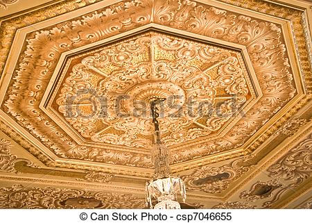 Stock Images of Ceiling Decoration.