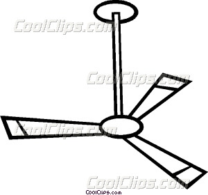Ceiling fan Vector Clip art.