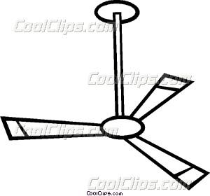 Ceiling fan Vector Clip art.