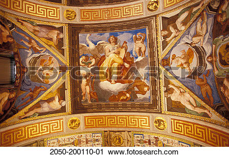 Stock Photography of Spain, El Escorial, Ceiling fresco. 2050.