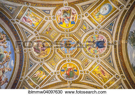 Stock Photography of Ceiling fresco, Vatican.