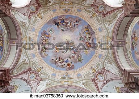 "Stock Photography of ""Ceiling fresco by Bartolomeo Altomonte."