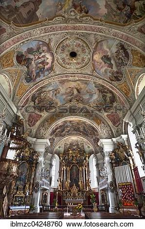 Stock Photography of Chancel with ceiling frescoes by Christoph.