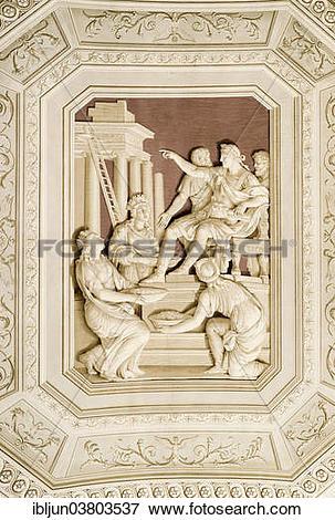 "Picture of ""Illusionistic ceiling frescoes in the Galleria degli."