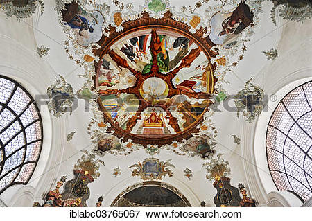 """Picture of """"Ceiling frescoes, Hospital Church of the Holy Spirit."""