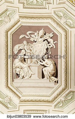 """Stock Photograph of """"Illusionistic ceiling frescoes in the."""