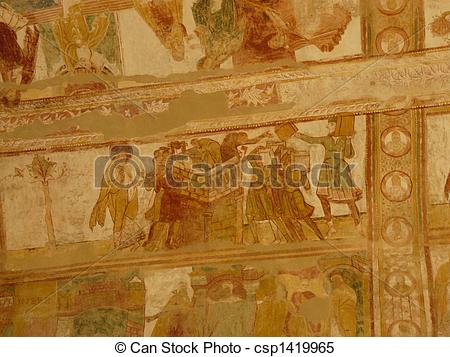 Stock Images of Church ceiling frescoes.