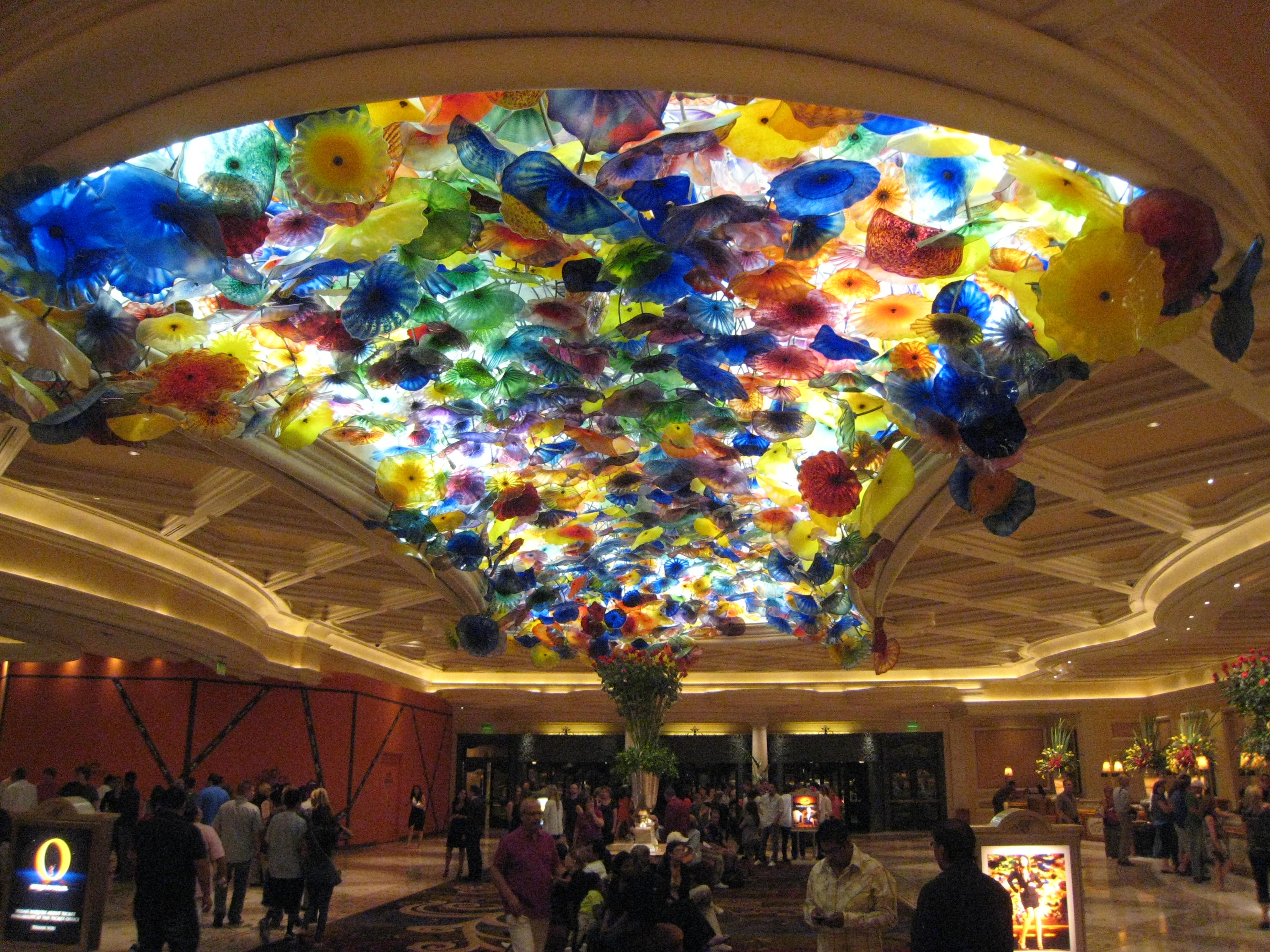 Bellagio lobby ceiling.