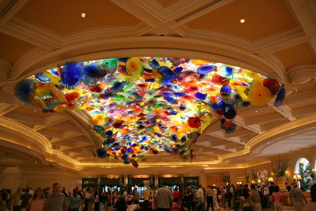 Bellagio lobby ceiling.