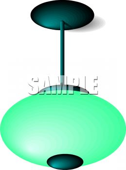 A Bubble Shaped Ceiling Lamp.