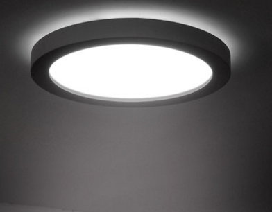 TRAVIS LED Ceiling Light in Black with Safety Mark LED Driver.